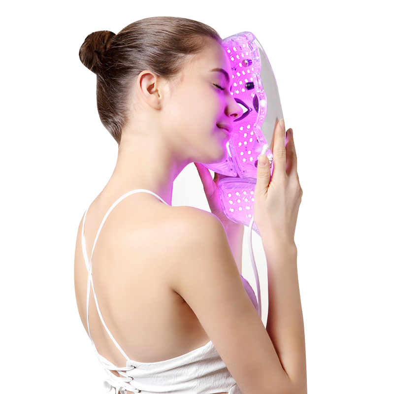 7Colors Facial Spa Salon Photon Led Face +Neck Mask LED Light Skin Care Rejuvenation Tighten Pores Anti Wrinkle Acne Beauty Mask маска librederm plant stem cells anti age mask intensive care for face neck and decollete