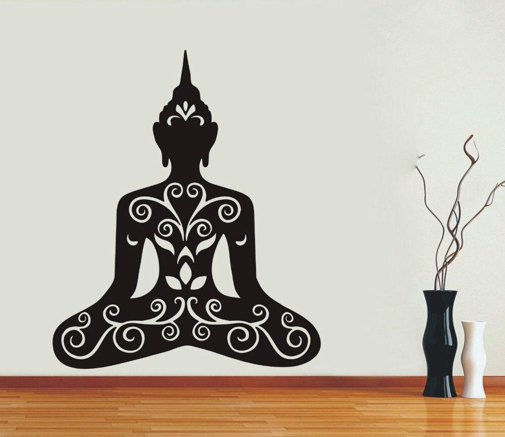 ③2017 nueva creativo patrón retrato Adhesivos de pared om Aum yoga ...