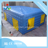Joy Inflatable Customized Giant Cube blue Inflatable Tent for Event