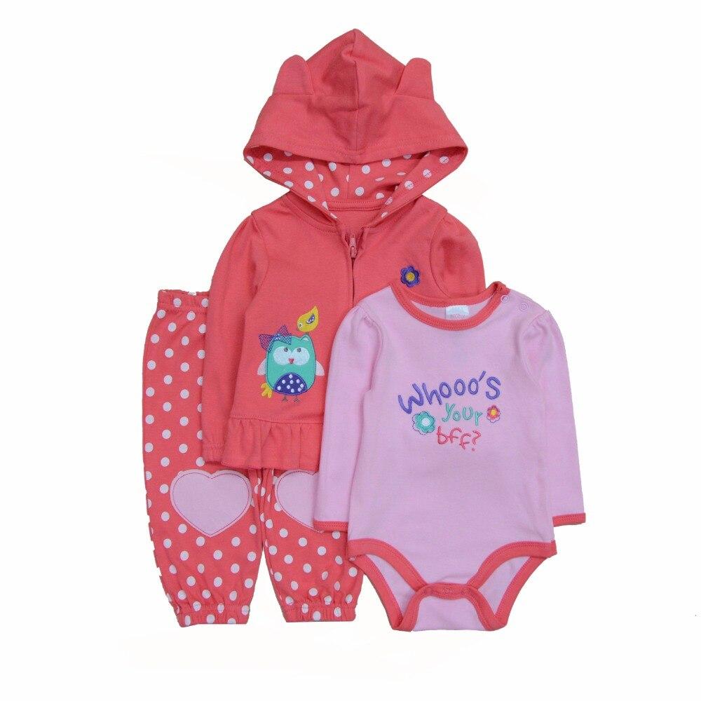 Fashion Baby Boy Clothing Set 3pcs Suits Coat Bodysuit