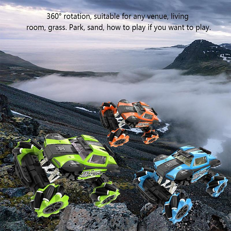 Drift Remote Control Climbing Car Toys Wireless Stunt Car Model Dance Horizontally Drift Buggy Toy For Children Birthday Gifts in RC Cars from Toys Hobbies
