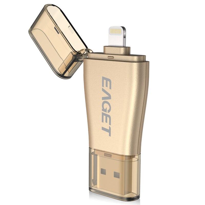 Prix pour Eaget i50 pour iphone otg usb 3.0 flash drives 128 gb 64 gb 32 gb capacité d'expansion pour iphone/ipad/ipod, micro pen drive pour pc/mac