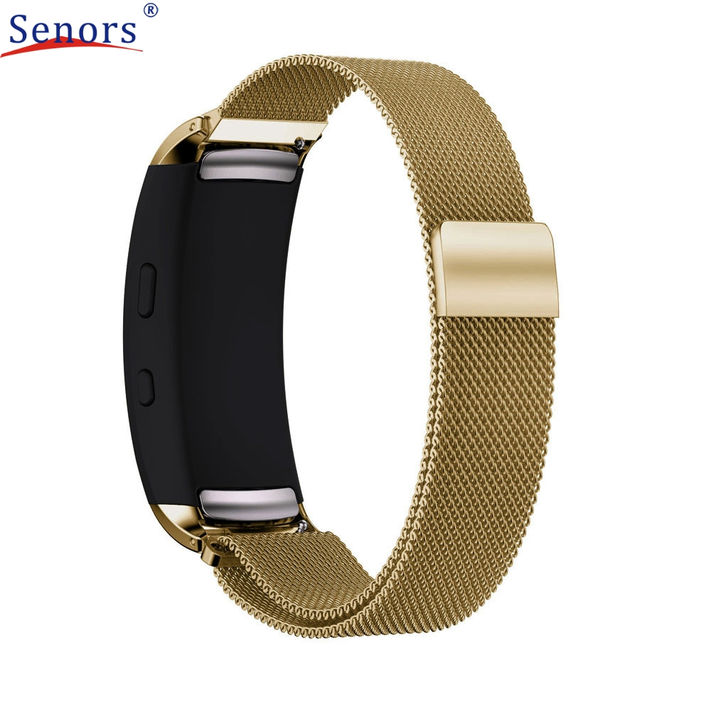 Superior Milanese Magnetic Loop Stainless Steel Band For Samsung Gear Fit 2 SM-R360 J6272 milanese loop for samsung gear s2 sm r720 stainless steel magnetic milanese band with connector for gear s2 rm 720 smgs2mlc