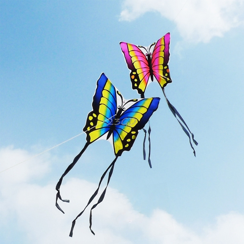 Beautiful Butterfly Kite Outdoor Toy Sport Gift for Kids Children With String Tail 35 Inch image