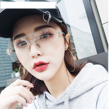 Glasses Hot Sale 2018 Korean Transparent Flat Mirror Female Makeup Big Box Net Frame Soft Sister Eyes Retro Male Personality