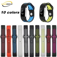 hot deal buy kingbeike 10 colors sport silicone watchband for fitbit charge 2 bracelet smart wristbands watches band accessories strap