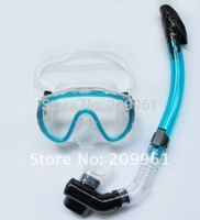 wholesale 6 colorS diving mask full dry snorkel Breathing tube Under Water Swiming snorkel set combination free shipping