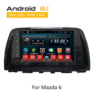 2 Din Android Car Dvd Players for Mazda 6 with GPS Wifi 3G iPod Bluetooth Support Digital TV Super big hard drive Video Display