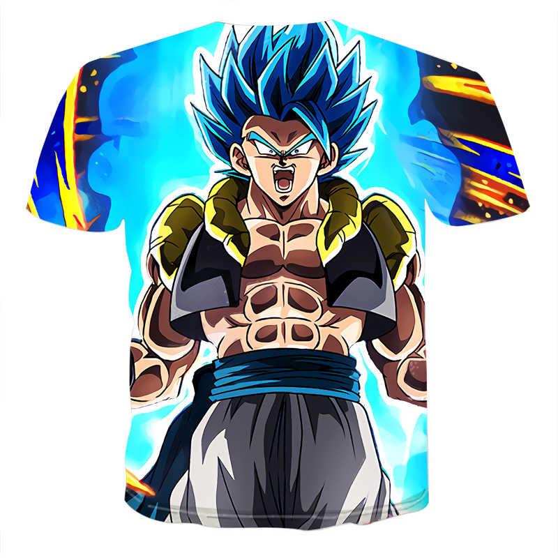 Dragon Ball Z Ultra Instinct Goku Super Saiyan Мужская футболка с 3D принтом, летняя футболка с драконом, забавная Мужская рубашка Азиатский размер S-6XL