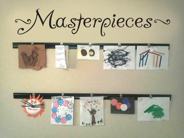Kids Room Decal Masterpieces Wall Vinyl Sticker For Diy Art Display Quote Children