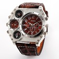 Oulm 1349 Reloj Hombre Hombres Movimiento Dual Reloj Deportivo Militar Con Brújula Termómetro Decoración Hombre Reloj Relogio masculino