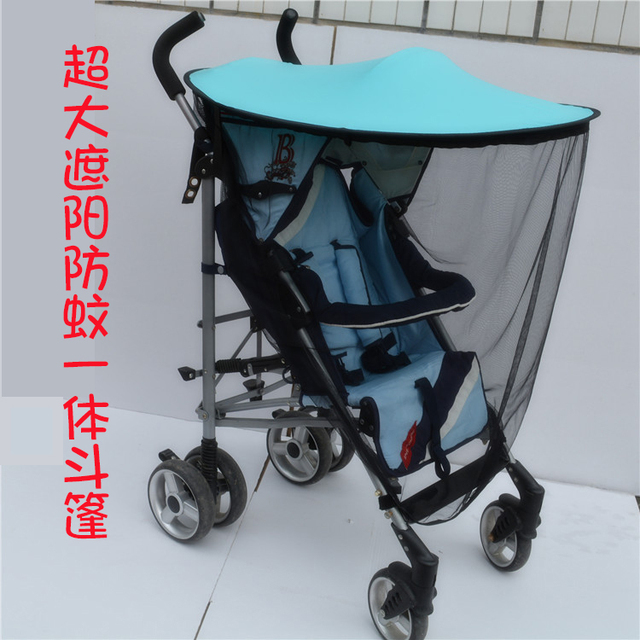 Pram sun awning summer suntan anti-mosquito uv awning trolley sunshade roof canopy bed nets & Pram sun awning summer suntan anti mosquito uv awning trolley ...
