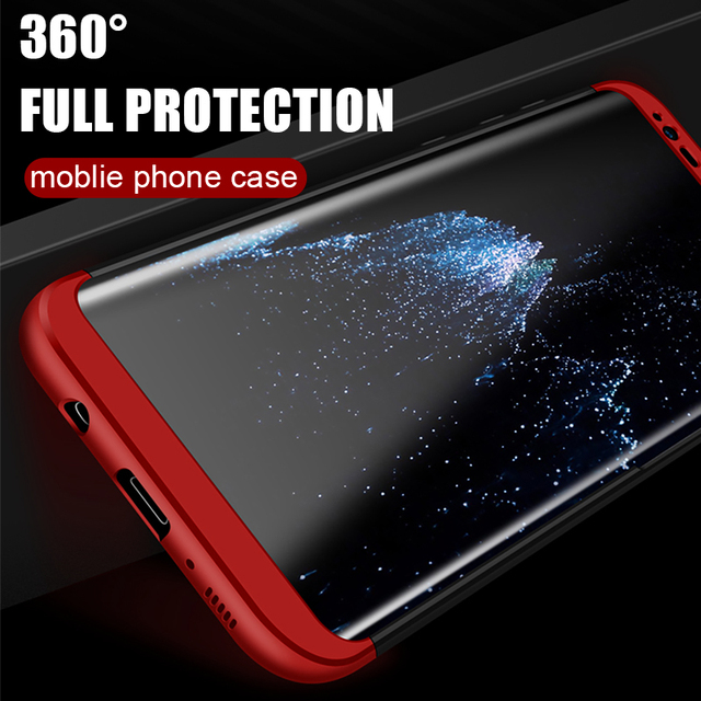 NAGFAK Luxury 360 Degree Full Cover Phone Case For Samsung Galaxy S9 S8 Plus Shockproof Cover For Samsung Note 8 S7 Edge S9 Case