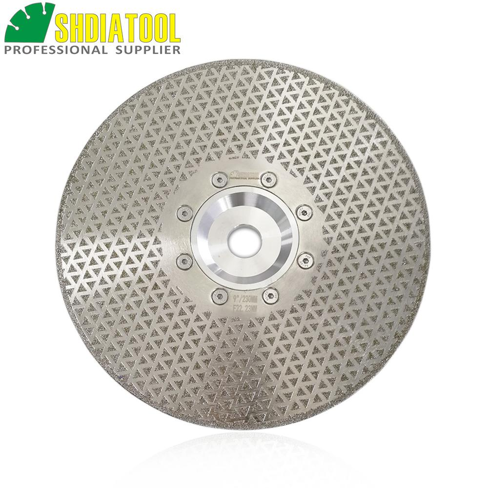 SHDIATOOL 9 230mm Electroplated Diamond Disk Cutting Grinding Discs Marble Granite Sawblade With 22 23 Flange
