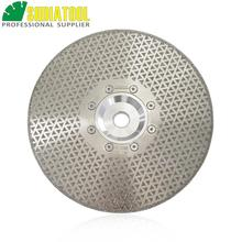 цена на 9/230mm Electroplated Diamond cutting & grinding discs for marble &  granite with 22.23 Flange, diamond blade