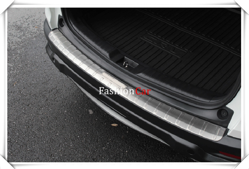 For HONDA CRV 2017 2018 1pcs Stainless Steel Outer Rear Bumper Protector Sill Trunk Trim car styling accessories high quality stainless steel accessories rear bumper protector sill plate cover trunk trim for mazda cx 5 cx5 2017 car styling