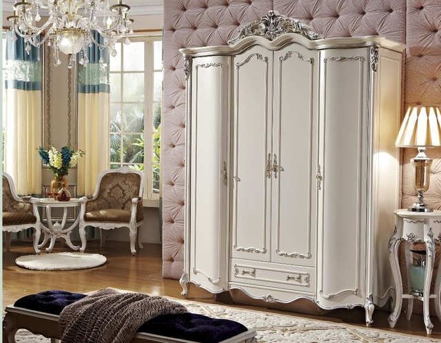 4 Doors White Colour Wardrobe From Procare Furniture