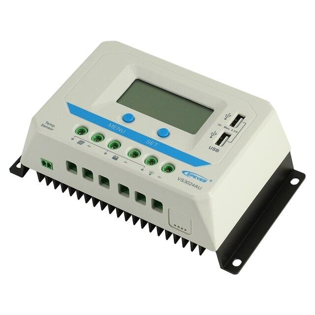 EPever PWM 10A/20A/30A/45A/60A Güneş şarj regülatörü VS-AU Serisi arkadan aydınlatmalı LCD Çift USB PV Şarj Cihazı regülatörü Güneş Ev