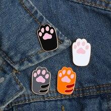 Винтажная брошь в виде когтя кота из мультфильма, значки в стиле аниме, броши на булавке для женщин, ювелирные изделия, подарки для мужчин, металлические эмалированные булавки, аксессуары для куртки