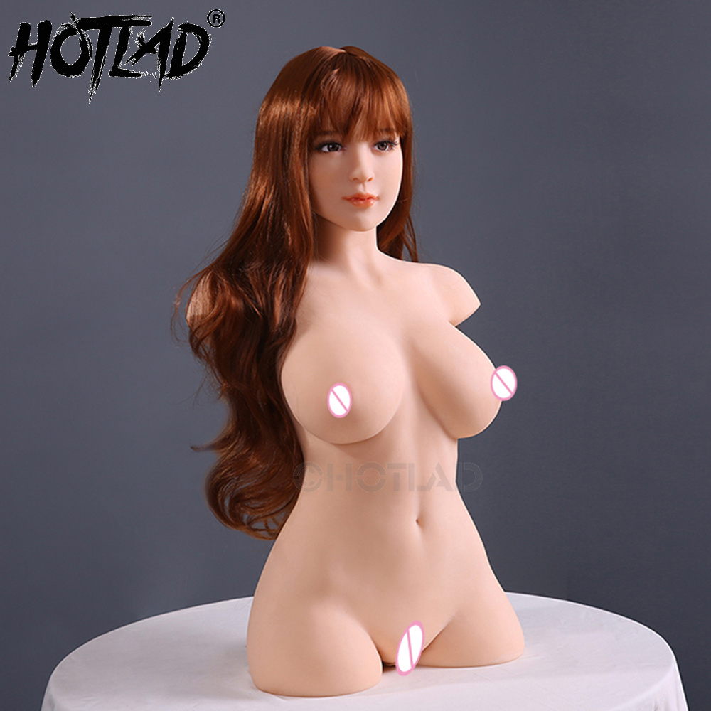 1:1 Pretty Japanese Girl High Quality Solid Silicone Doll Half Body with Anal and Vaginal Sex Male Masturbation Hand Carved