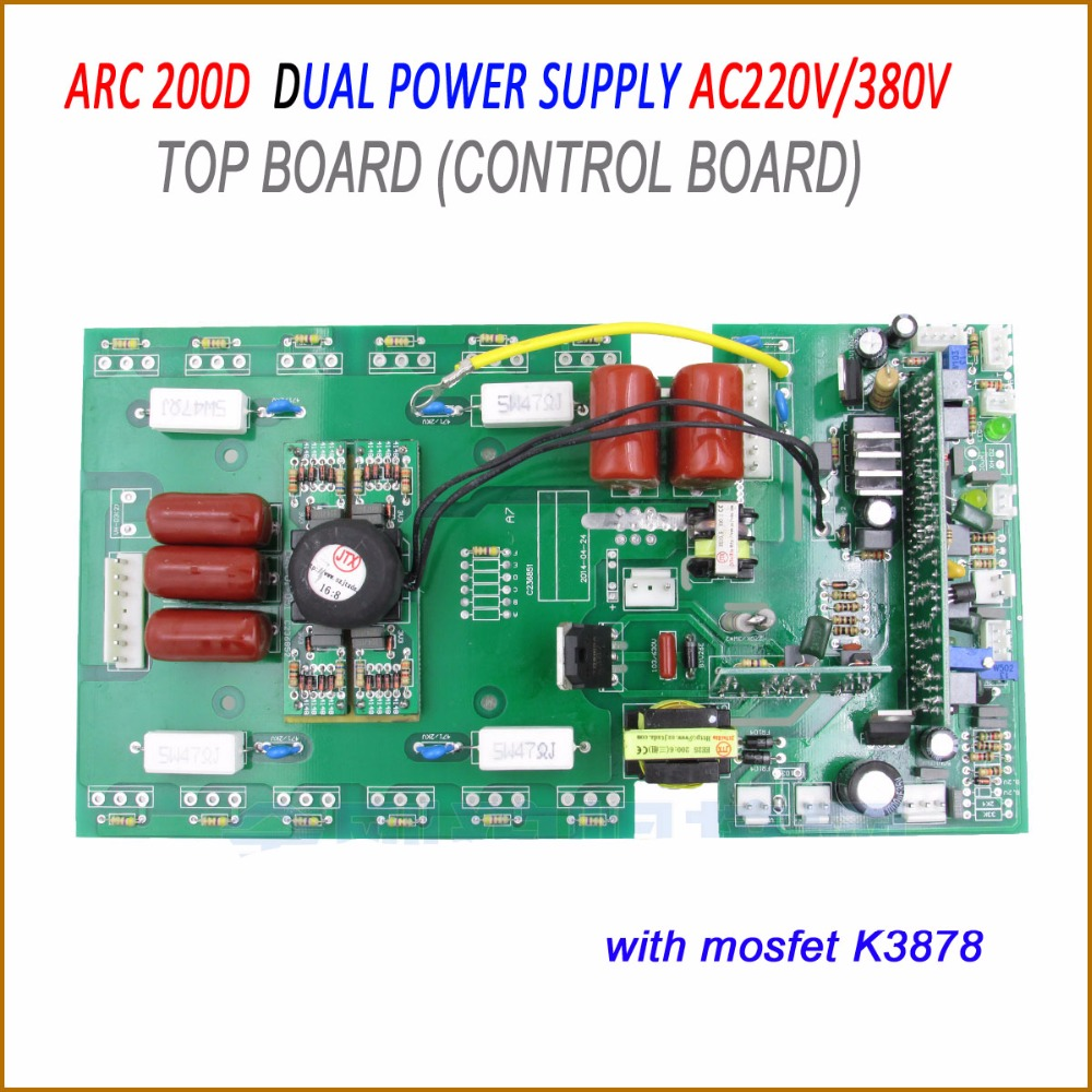 Electric welding machine board ARC WS TIG 200 250 top board , dual power supply AC 220V/380V ws 200 250 top board control card for mosfet cotrollled mma tig welding machine