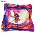 NEW high quality silk Scarf Women  Foulard NeckerChief flower Bandana Small Square Silk Scarf Office Lady girls' Gift