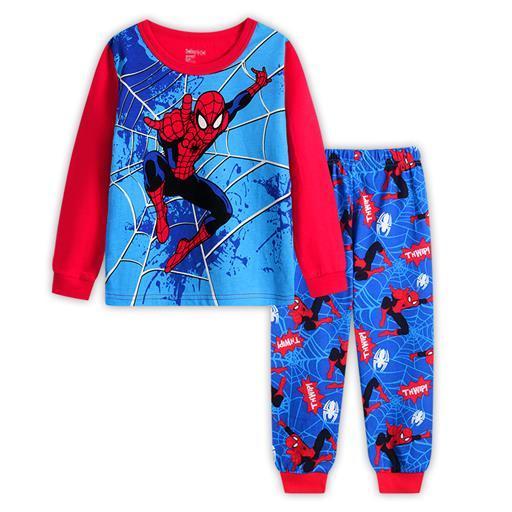 57eb99d49 2-7 yrs boys girls pijamas cotton children pyjamas sleepwear baby kids  pajama set spider man toddler boy clothes set