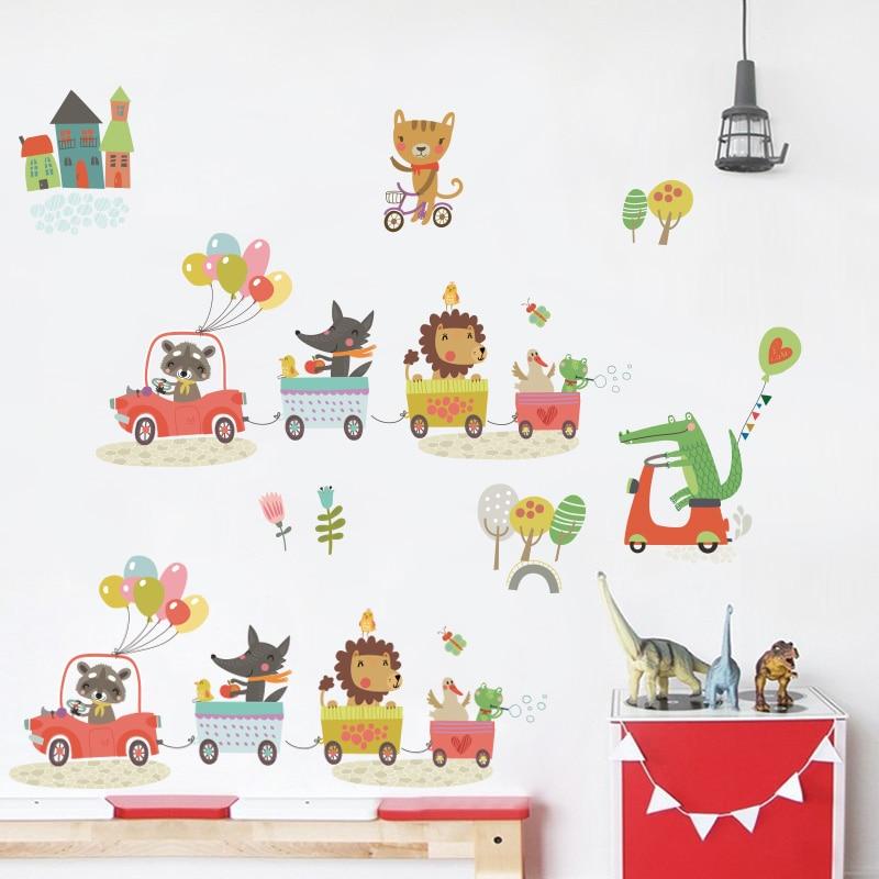 Sticker për kafshë pyjore për dhoma për fëmijë Dhoma në - Dekor në shtëpi - Foto 2