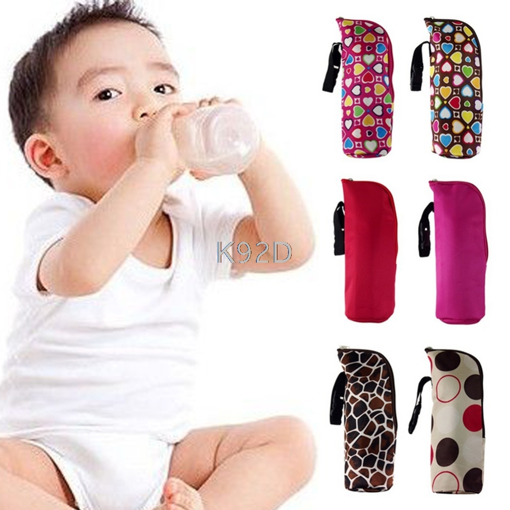 Portable Baby Feeding Milk Bottle Warmer Thermal Mummy Insulation Tote Carry Bag N23