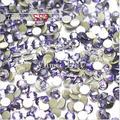 1440 pc/bag SS3 1.3-1.4mm Tanzanite Roxo Não HotFix Natator Pedrinhas, Vidro Glitter Glue-on Solto Cristais Pedras Da Arte do prego