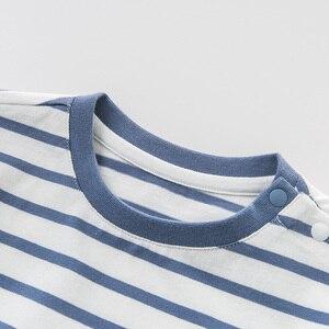 Image 5 - DBJ10359 דייב bella קיץ תינוק בני אופנה חולצה ילדי cartoon פסים חולצות בנות באיכות גבוהה בסוודרים ילדים מקרית tees
