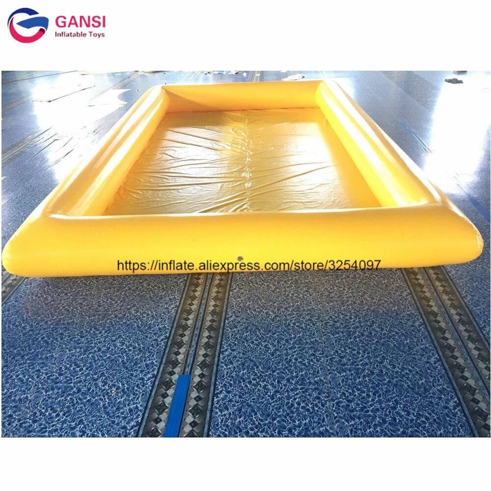 Piscine d'eau gonflable de couleur jaune de produit chaud flottant la piscine gonflable de PVC pour des enfants