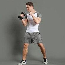 Mens runner T Shirt and shorts Men Compression Tights Underwear Sets Crossfit Bodybuilding Fitness Sportwer Jerseys Suit