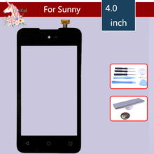 4.0 New Sunny Touch Screen For Wiko Sunny Touch Screen Digitizer Sensor Outer Front Glass Lens Panel Replacement new n010 0554 x062 touch screen touch glass