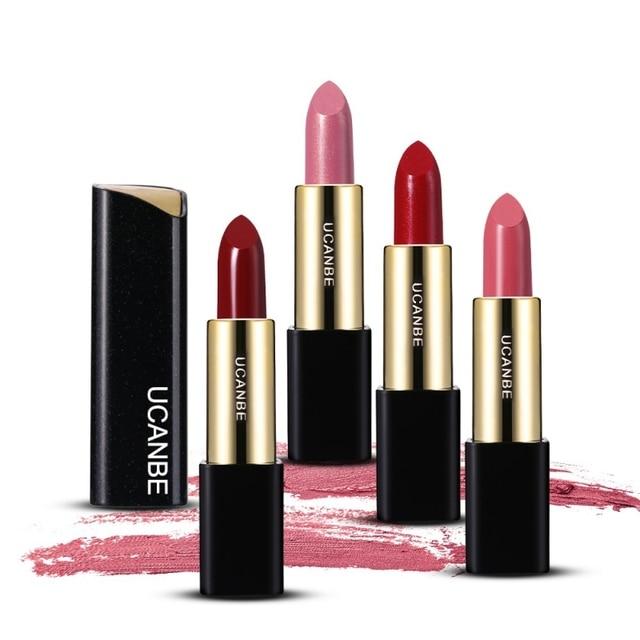 UCANBE 5 Colors Moisturizing Smooth Lipsticks Makeup Matte Shimmer Waterproof Long Lasting Lips Stick Gloss Cosmetics Set