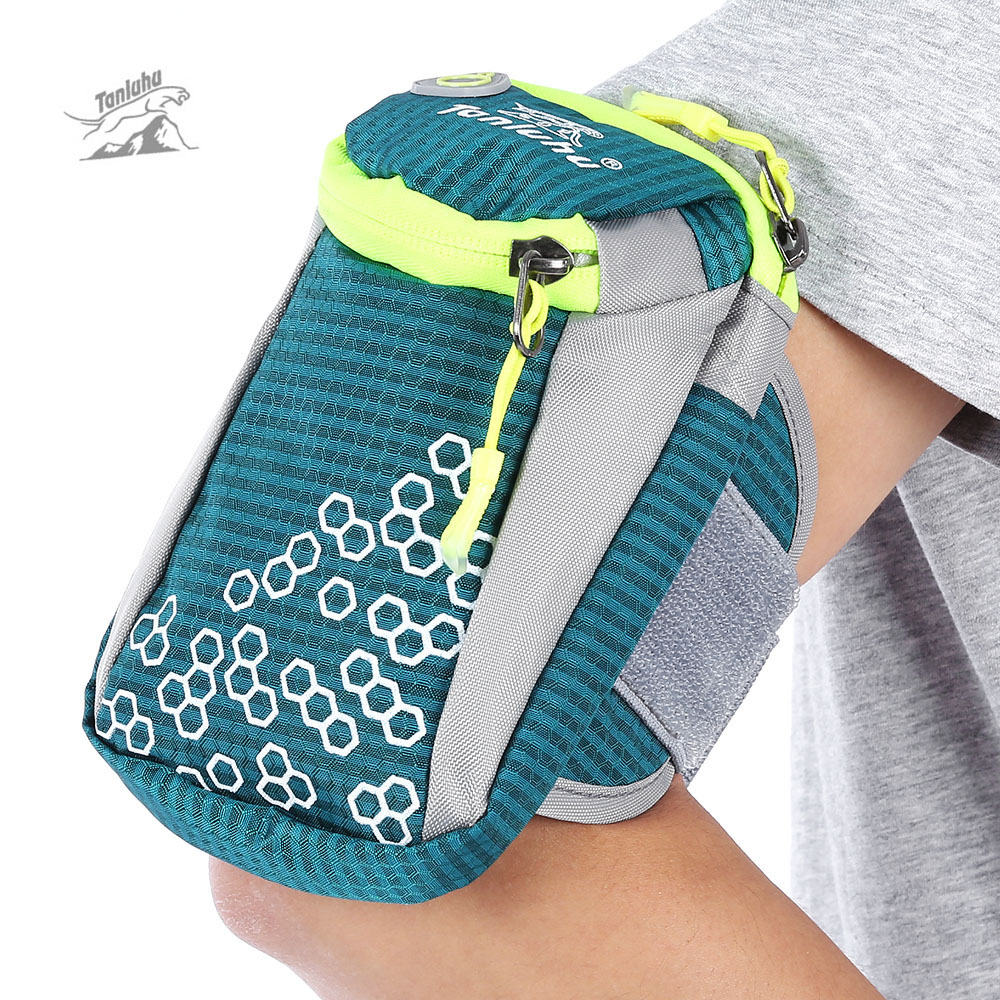 adjustable Armband Cycling Handbags Waterproof Nylon Jogging Gym Wrist Bag Modest Tanluhu Unisex Sports Running Arm Bag Phone Holder