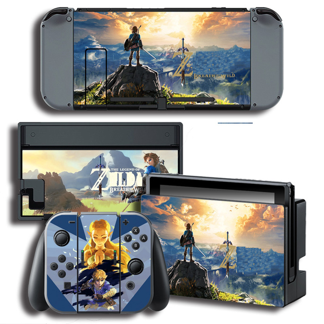 Vinyl Cover Decal Skin Sticker for ghosts skins Stickers for Nintendo Switch NS Console + Controller + Stand Holder Protective F 1