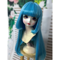 Allaosify bjd hair 1 PCs BJD long wig 1/3 1/4 1/6 bjd doll wig with air bang lovely style is easy to take care of 6 colors