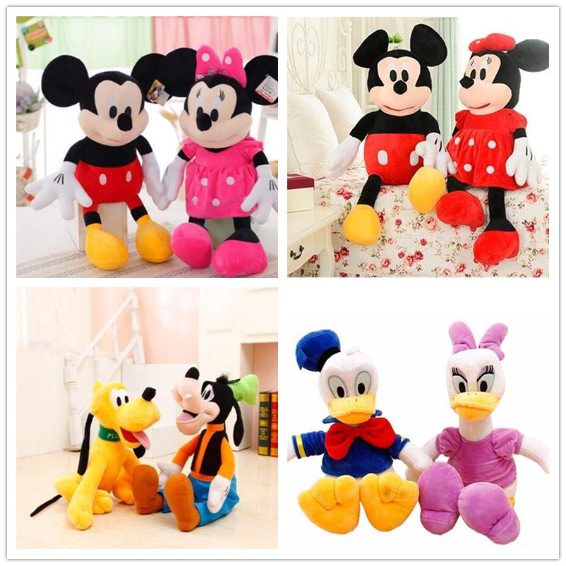 7 styles 30cm Mickey Mouse Minnie Donald Duck Daisy Plush Toys Cute Goofy Dog Pluto Dog Kawaii Stuffed Toys Children Gift simba пупс minnie mouse