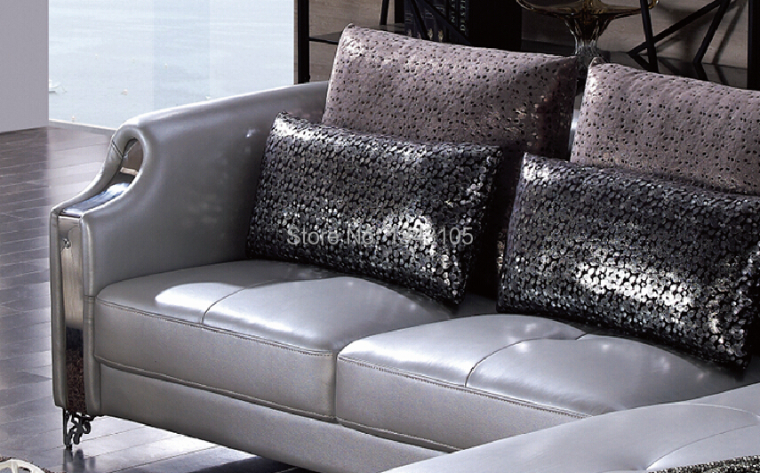 LBZ 3077# Silver Furniture Home Corner Sofa Living Room Leather Sofas In  Living Room Sofas From Furniture On Aliexpress.com | Alibaba Group