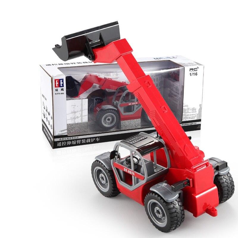 A distanza di Controllo Braccio Telescopico Carico Carrello Elevatore RC Camion di Un Demo Chiave di Simulazione Boom Camion Contrazione Pala Modello di Ingegneria - 6