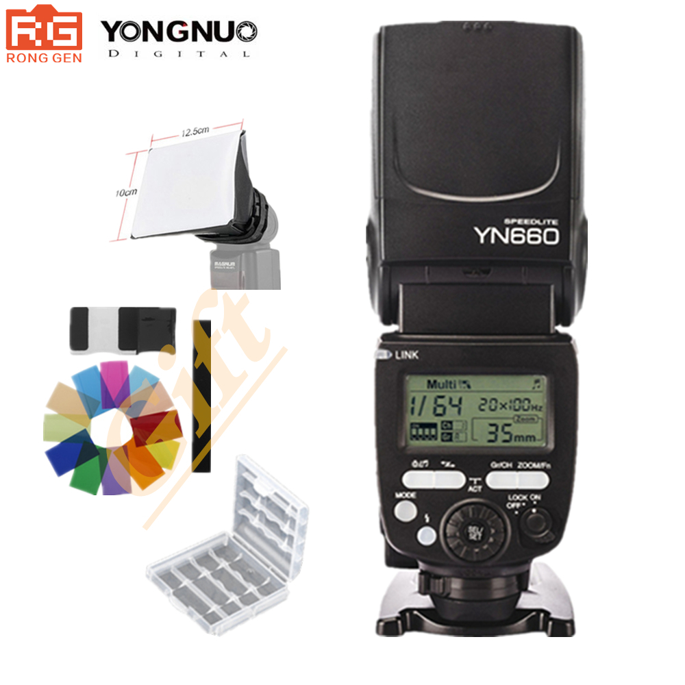 YONGNUO YN660 Updated Version of YN560-IV)2.4GHz Flash Speedlite Wireless Transceiver Integrated for Canon Nikon Pentax Olympus