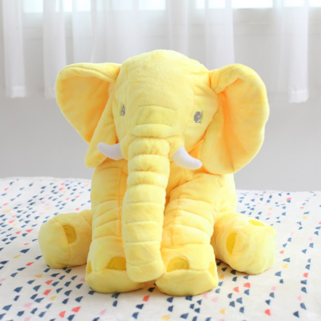 Wholesale price old customer 5Color Elephant Soft Automotive Baby Sleep Pillow Baby Crib Foldable Baby Bed Car Seat Cushion