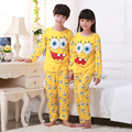 Newest Kids for sponge Bob sleepwear cartoon pajama sets baby boys girls pyjamas pijama clothing sets children cotton sleepwear