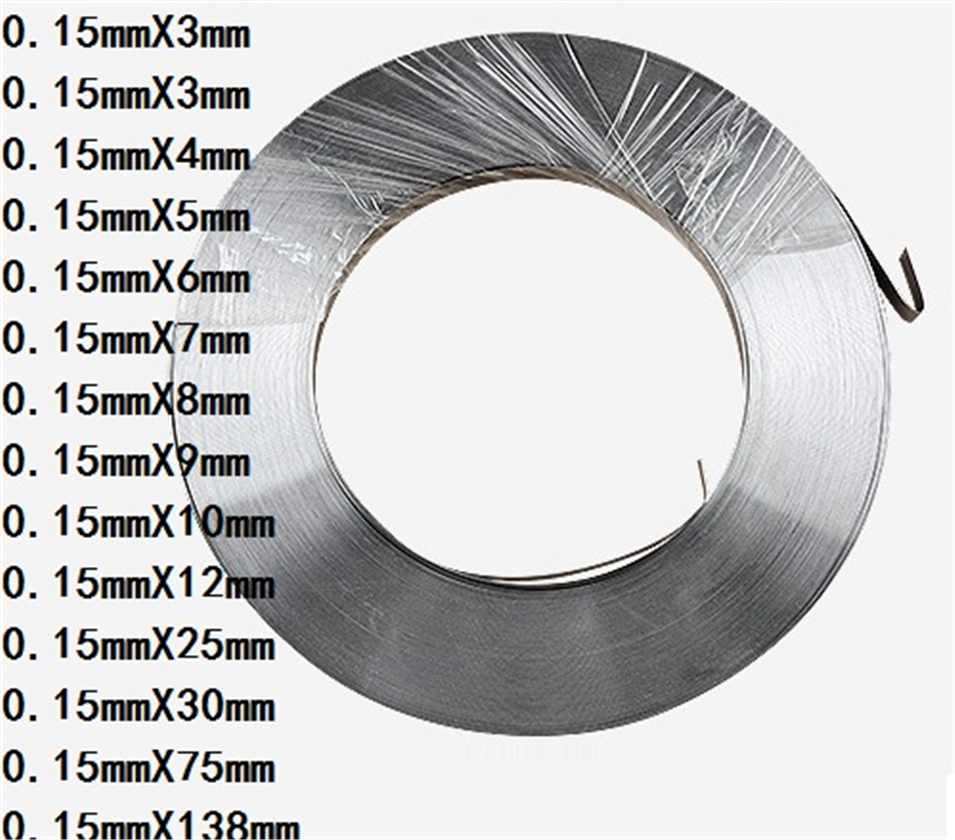 1kg 0.15mm * 10mm Pure Nickel Plate Strap Strip Sheets 99.96% pure nickel for Battery electrode electrode Spot Welding Machine1kg 0.15mm * 10mm Pure Nickel Plate Strap Strip Sheets 99.96% pure nickel for Battery electrode electrode Spot Welding Machine