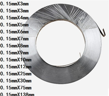 1kg 0.15mm * 10mm Pure Nickel Plate Strap Strip Sheets 99.96% pure nickel for Battery electrode Spot Welding Machine