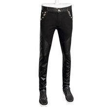 Горячей продажи моды для мужчин кожаные штаны джинсы джинсовые брюки узкие брюки pu 28-36 CYG95