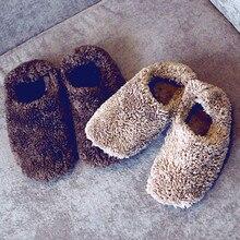 Envío Gratis 2 Color Warm Imitación Gamuza Suela de Zapatos de Piso Antideslizantes Cómodas Zapatillas de Casa En Casa para Los Hombres y Las Mujeres
