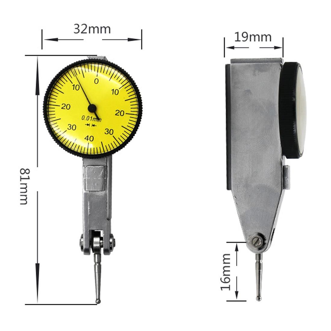 1 Pc 0-0.8 Mm/0.01 Mm Meetklok Meetklok Waterdicht Voor Mechanische/Swing Meting /Werkstuk Meting