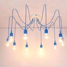 13 Colors Industrial Vintage Pendant Lights Edison Lamp Adjustable DIY Art Pendant Lamp 4//6/8/10/12 Home Decoration Lightting